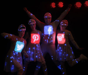 Video Mapped LED Dance Act with logo display