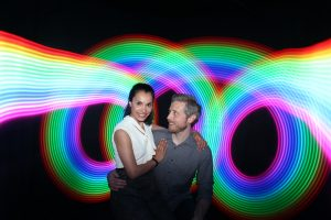 Create unique memories for you corporate event with the Light Painting Photo Booth