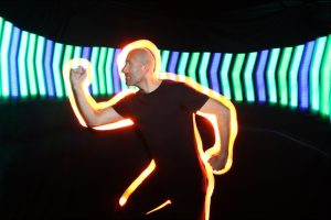 Pixel Poi Stick creating LED imagery in Light Painting Photo Booth