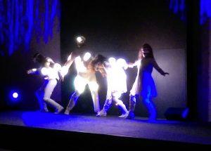 Supernova LED video suit dance