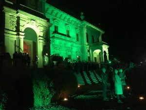 Venue for the bespoke LED lightshow at Lake Como